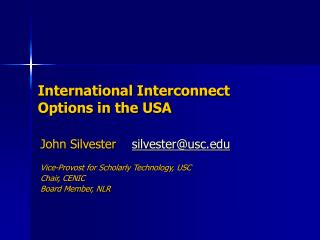International Interconnect Options in the USA