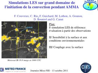 Simulations LES sur grand domaine de  l'initiation de la convection pendant AMMA