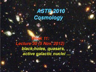 ASTR 2010                Cosmology
