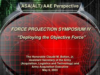 ASA(ALT)/AAE Perspective