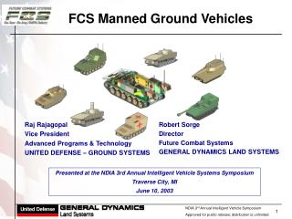 FCS Manned Ground Vehicles