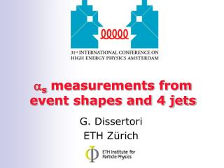 a s  measurements from event shapes and 4 jets