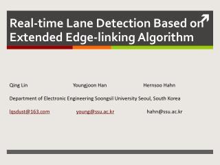 Real-time Lane Detection Based on Extended Edge-linking Algorithm