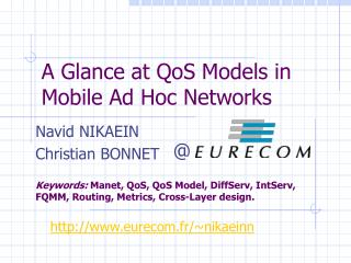 A Glance at QoS Models in Mobile Ad Hoc Networks