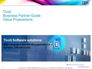 Tivoli Business Partner Guide Value Propositions