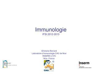 Immunologie IFSI 2012-2013