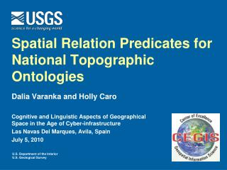 Spatial Relation Predicates for National Topographic Ontologies
