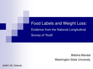 Food Labels and Weight Loss: Evidence from the National Longitudinal Survey of Youth