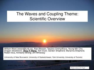 The Waves and Coupling Theme: Scientific Overview