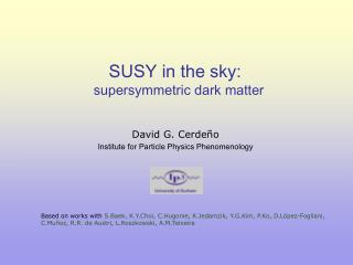 SUSY in the sky:   supersymmetric dark matter