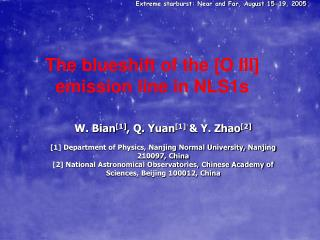 The blueshift of the [O III] emission line in NLS1s