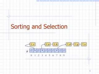 Sorting and Selection