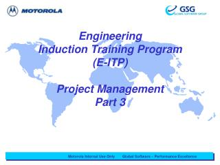 Engineering  Induction Training Program (E-ITP) Project Management  Part 3
