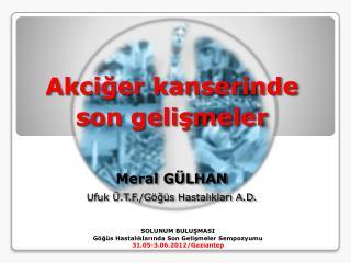 SOLUNUM BULUŞMASI Göğüs Hastalıklarında Son Gelişmeler  Sempozyumu 31.05-3.06.2012/Gaziantep