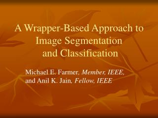 A Wrapper-Based Approach to Image Segmentation  and Classification