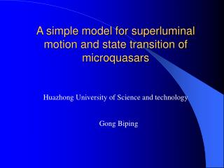 A simple model for superluminal motion and state transition of microquasars