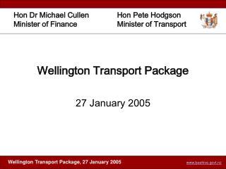 Wellington Transport Package