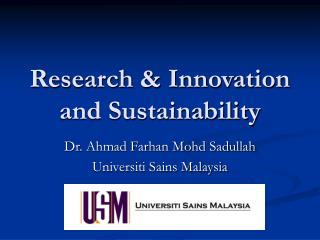 Research  Innovation and Sustainability