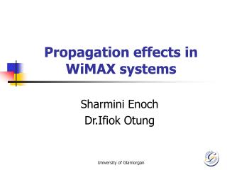 Propagation effects in WiMAX systems