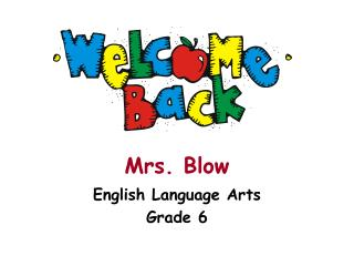 Mrs. Blow