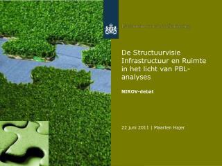 De Structuurvisie Infrastructuur en Ruimte in het licht van PBL-analyses  NIROV-debat
