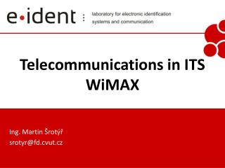 Telecommunications in ITS WiMAX