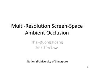 Multi-Resolution Screen-Space Ambient Occlusion