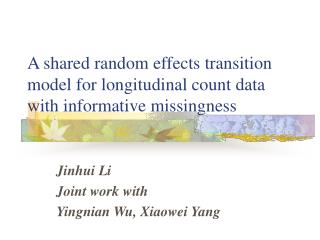 A shared random effects transition model for longitudinal count data with informative missingness
