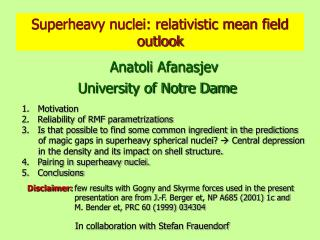Superheavy nuclei: relativistic mean field outlook