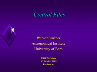 Control Files