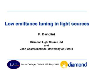 Low emittance tuning in light sources