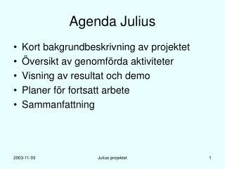 Agenda Julius