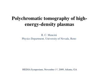 Polychromatic tomography of high-energy-density plasmas