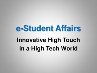 E-Student Affairs