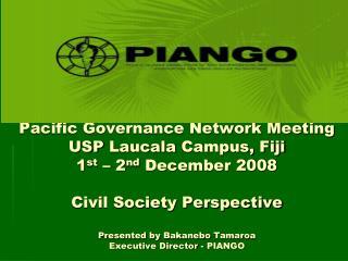 Pacific Islands Association of NGOs (PIANGO)
