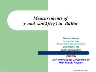 Measurements of  g   and  sin(2 b+g  ) in  BaBar