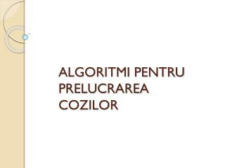 ALGORITMI PENTRU PRELUCRAREA COZILOR