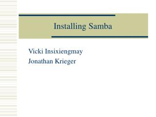 Installing Samba