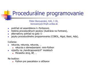 Proced urálne programovanie