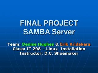 FINAL PROJECT  SAMBA Server