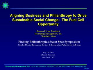 Finding Philanthropies Sweet Spot Symposium