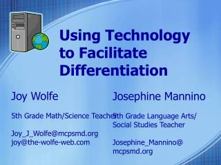 Using Technology to Facilitate Differentiation