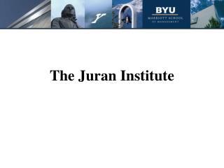 The Juran Institute