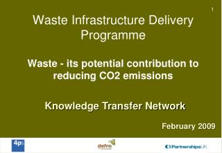 Knowledge Transfer Network February 2009