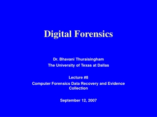 Lecture 5 - Fundamentals