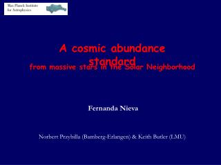 A cosmic abundance standard