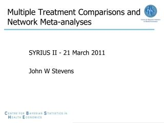 Multiple Treatment Comparisons and Network Meta-analyses
