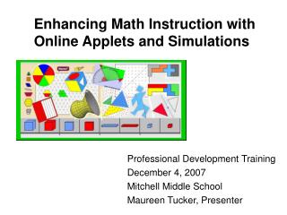 Enhancing Math Instruction with Online Applets and Simulations