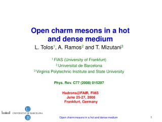 Open charm mesons in a hot and dense medium