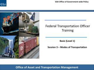 Federal Transportation Officer Training